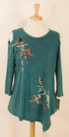 Jess and Jane - Melody Teal Cold Shoulder Tunic