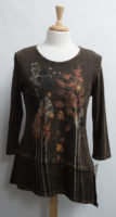 """Chocolate Brown """"Nordic"""" Autumn Print Top by """"Jess and Jane"""""""