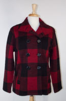 Red Plaid Wool Jacket by Karen Hart