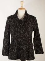 Komil - Cowl neck Tunic - Black and Taupe