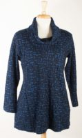 Komil Cowl Neck Tunic - Blue