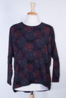 "Komil ""Cindy"" Print Top in Plum"