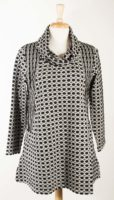 Komil - Cowl Neck Tunic - Black and Silver