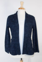 "Komil Navy ""Rose Weave"" Print Jacket"