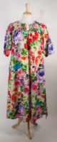 Bold Floral Nightgown by La Cera