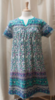 "Short Sleeved 100% Cotton Dress with Pockets by ""La Cera"" (2 prints)"
