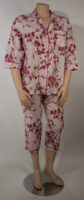Hummingbird and Cherry Blossoms Print Pajamas by La Cera