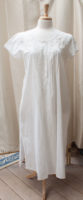 Embroidered Pin-tuck Nightgown by La Cera