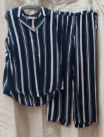 "Sleeveless Striped PJ Set by ""La Cera"""