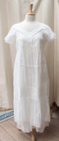 Gorgeous Lined Tiered Cotton Dress by La Cera