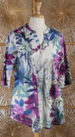 Tropical Pleated Blouse by La Cera