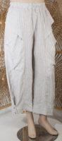Luukaa Stone Pinstripe Pants