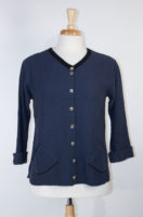 Smoky Navy and Black Cardigan by Margaret Winters
