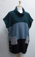 Cowl Neck Tunic Colorblock Sweaters by Margaret Winters (2 color styles)