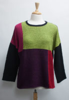 """Colorblock Sweater by """"Margaret Winters"""""""