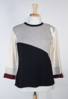 Margaret Winters Diagonal Stripe Sweater