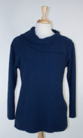 Split Collar Tunic Sweater by Margaret Winters (2 colors)