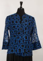"""Bethany"" One Button Dressy Jacket (Available in Blue or White)"