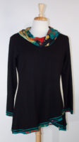 """Maya"" Cowl Neck Tunic by Parsley and Sage"
