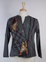 1 Button Silver Jacket by Parsley and Sage
