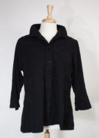 Black Jacket with Positionable Collar