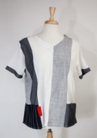 Gray and White Color Block Top by Parsley and Sage