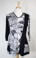 """Eva"" Black and White Pocket Tunic by Parsley and Sage"