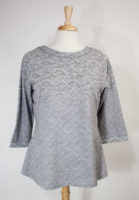 """Grace"" Ombre Gray Geometric Print Top"