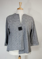 """Grace"" One-Button Gray Jacket"