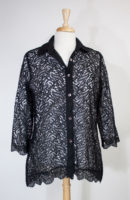 Sheer Black Lace Blouse by Parsley and Sage