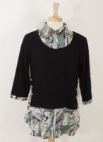 Parsley and Sage - Black topped Layered-Look Tunic