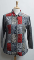 """Patchwork Jacket by """"Parsley and Sage"""" *Reversible*"""