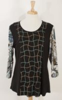 Parsley and Sage - Print Tunic with Stitching
