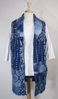 Blue Reversible Long Vest by Parsley and Sage