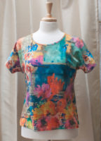 "Colorful Short Sleeved Top by ""Parsley and Sage"""