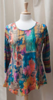 "Colorful Split Tunic by ""Parsley and Sage"""