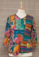 Colorful V-Neck Pocket top by Parsley and Sage