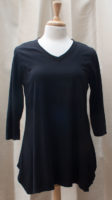 Black A-line Long Sleeved Tunic by Prairie Cotton