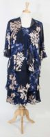 Simply Silk 2 Piece Dress - Navy Print