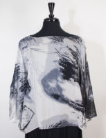 Black and White Silk Topper by Simply Silk