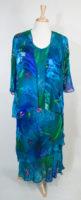 Long Jeweltone 2-piece Dress by Simply Silk