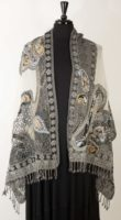 Parsley and Sage - Gray and Ivory Wool Stole