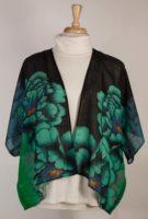 Cocoon House Kimono Sleeve Lightweight Wool Jacket - Blue Peony
