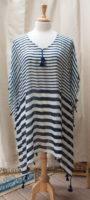 'Amelia' Pullover Top - Navy Stripes