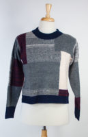 """Nadia"" Color Block Sweater by Maude Vivante"