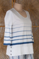 White Top with Blue Stripes by Wild Palms