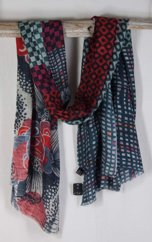asian eye wool silk scarf urchin of substance