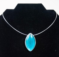 Origin Jewelry - Teal Leaf Necklace