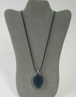 Origin Jewelry - Midnight Blue Leaf Necklace