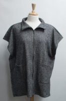 Houndstooth Check Zip Front Poncho by bryn Walker